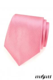 Růžová kravata pro muže