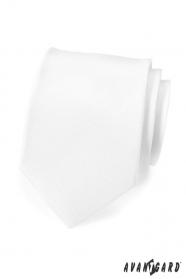 Bílá, matná kravata
