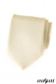Matně smetanová kravata Avantgard