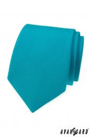 Tyrkysová, matná kravata Avantgard