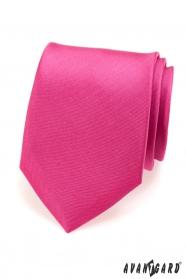 Výrazná pánská kravata fuchsiové barvy matná