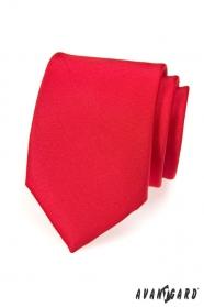 Pánská kravata červená MAT