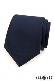 Modrá matná kravata pro pány