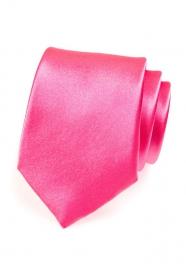 Kravata výrazná růžová