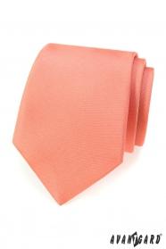 Jednobarevná kravata matné lososové barvy