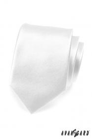 Jednoduchá hladká bílá pánská kravata