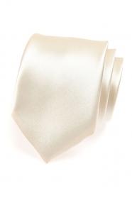 Lesklá kravata smetanové barvy