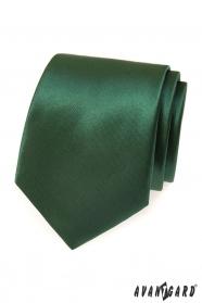 Tmavě zelená pánská kravata