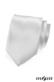 Hladká stříbrná kravata