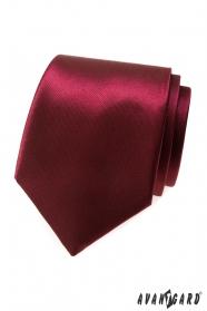Lesklá pánská kravata bordó