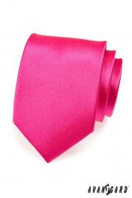 Pánská kravata růžová fuchsiová