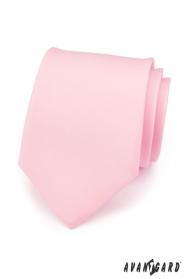 Kravata pro muže růžová matná