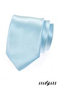 Pánská kravata světle modrá lesk