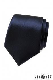 Pánská kravata tmavěmodrá lesk