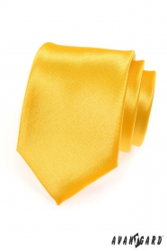 Pánská kravata žlutá s leskem