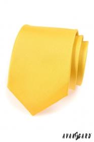 Kravata AVANTGARD matná žlutá
