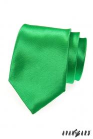 Sytě zelená pánská kravata