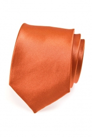 Cihlová pánská kravata