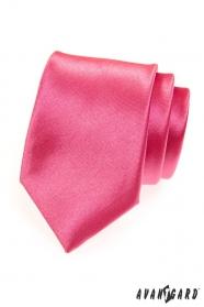 Pánská kravata sytě růžová