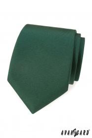 Tmavě zelená matná kravata