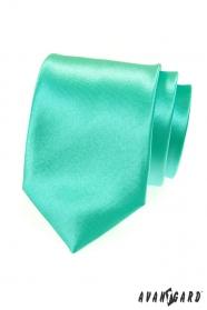 Lesklá mátově zelená kravata