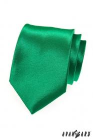 Výrazná jednobarevná zelená kravata