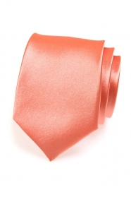 Pánská kravata korálový odstín
