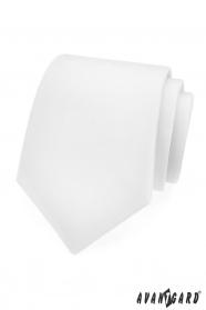Hladká bílá matná kravata