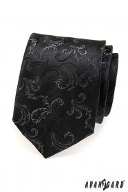 Černá kravata jemný vzor