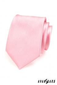 Pánská kravata růžová lesk