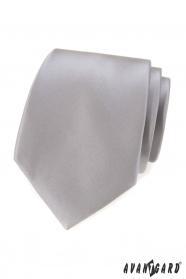Šedá klasická pánská kravata