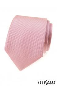 Strukturovaná kravata pudrově růžové barvy