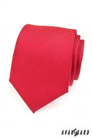 Červená pánská kravata s jemnou strukturou