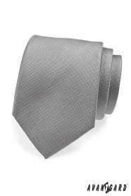 Šedá společenská kravata