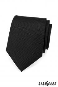 Pánská kravata černá matná