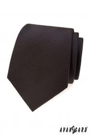 Hnědá kravata s tečkovanou strukturou