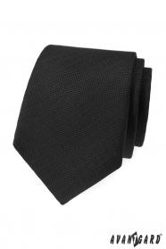 Černá strukturovaná kravata Avantgard