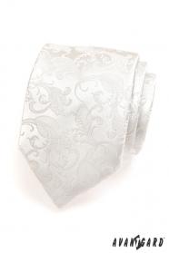 Pánská kravata smetanová se vzorem