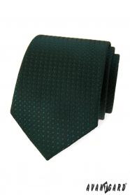 Tmavě zelená kravata s lesklým vzorem