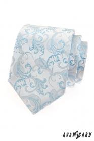 Pánská kravata modrý motiv
