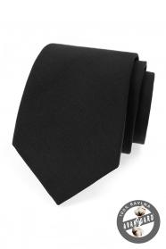 Černá bavlněná kravata