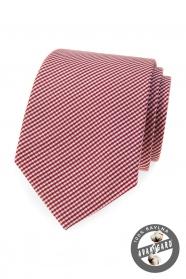 Bavlněná kravata s proužkem v bordó