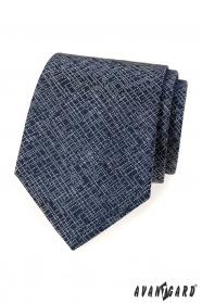 Tmavě modrá kravata s moderním vzorem