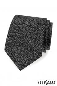 Černá pánská kravata s bílým vzorem