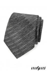 Černo šedá žíhaná kravata Avantgard