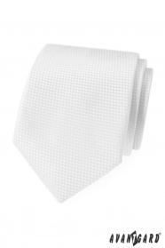 Bílá strukturovaná kravata Avantgard Lux