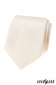 Smetanová strukturovaná kravata Avantgard Lux