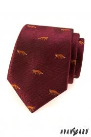 Bordó kravata - liška