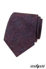 Pánská kravata s bordó vzorem