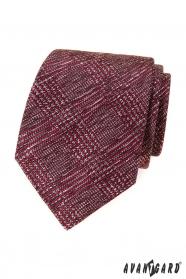 Pánská kravata s červeno-šedý vzorem